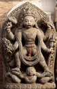 Hindu god vishnu sculpture Stock Photography