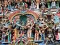 Hindu gods and godess statues Royalty Free Stock Photo