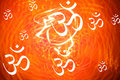 Hindu Om Background Royalty Free Stock Photo