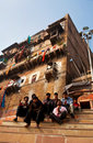 Hindu pilgrims in Varanasi Royalty Free Stock Photography