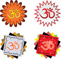 Hindu religion symbol ohm in high quality in every detail Royalty Free Stock Photos