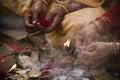Hindu religious ceremony on the occasion of shivaratri nepal bardia area Royalty Free Stock Photos