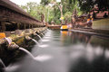 Hindu ritual bathing pool located puru tirtha empul temple bali indonesia Royalty Free Stock Image