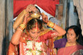 Hindu rituals bengali bride doing at groom s home Royalty Free Stock Photography