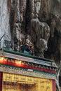 Hindu`s divine statue in top of the gate of Batu Caves near Kuala Lumpur, Malaysia. Royalty Free Stock Photo