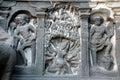 Hindu sculptures Ellora Caves Royalty Free Stock Photo