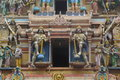 Hindu statues in a temple in trincomalee sri lanka Stock Images
