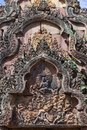 Hindu style temple carvings Stock Images