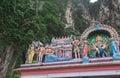 Hindu temple at Batu Caves Royalty Free Stock Photo