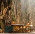 Hindu temple in Batu caves Royalty Free Stock Photo