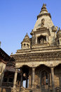 Hindu Temple at Bhaktapur Durbar Square, Nepal Royalty Free Stock Photography