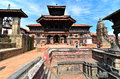 Hindu temple in bhaktapur nepal oct foreign tourists visiting the famous durbar square of on october kathmandu is Royalty Free Stock Photo