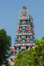 Hindu temple in the center of georgetown penang island malaysia Royalty Free Stock Photo