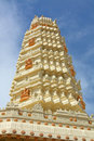 Hindu Temple Gleaming in the Sun Royalty Free Stock Images