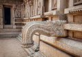 Hindu temple in hampi ancient with mythological creatures statues karnataka india Royalty Free Stock Photography
