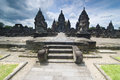 Hindu temple Prambanan. Indonesia, Java, Yogyakarta with dramati Stock Photography