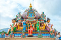 Hindu temple in singapore details of Stock Photography