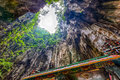 Hindu temple and view in the Batu Caves Royalty Free Stock Photo