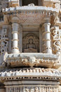 Hinduism ranakpur temple fragment in rajasthan india Royalty Free Stock Photography
