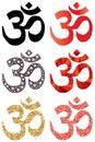 Hinduism symbol set