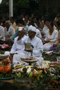 Hindus pray javanese in a temple in karanganyar central java indonesia Royalty Free Stock Image