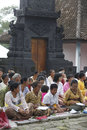 Hindus pray in a religious ceremony in karanganyar central java indonesia Royalty Free Stock Image