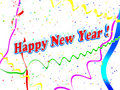 Hintergrund des Feiertags-glücklichen neuen Jahres Lizenzfreies Stockbild