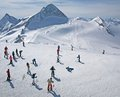 Hintertux glacier ski area in the Austrian Alps Royalty Free Stock Photos
