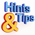 Hints and tips Stock Photography