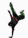 Hip hop acrobatic break dancer breakdancing young man handstand Stock Photography