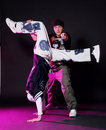 Hip hop dancer in dance Royalty Free Stock Photo