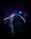 Hip hop dancer young woman Stock Image