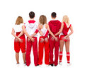 Hip hop dancers posing Stock Photography