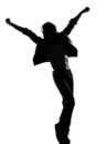 Hip hop funk dancer dancing man Stock Images