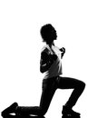 Hip hop funk dancer dancing man full length silhouette of a young funky r b on isolated studio white background Royalty Free Stock Image