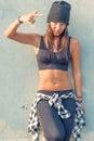 Hip hop girl Royalty Free Stock Photo