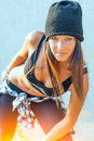 Hip hop girl Royalty Free Stock Photo