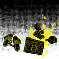 Hip hop music element background Stock Image