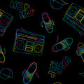 Hip hop music seamless pattern Royalty Free Stock Photography