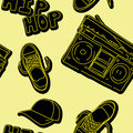 Hip hop music seamless pattern Stock Photos