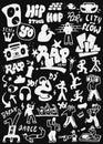 Hip - hop , rap doodles