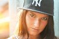 Hip hop rap girl Royalty Free Stock Photo
