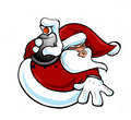 Hip Hop santa Stock Images