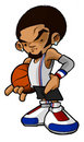 Hip hop street ball basketball player Stock Photo