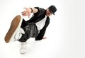 Hip-hop style dancer Royalty Free Stock Images