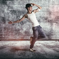 Hip young man doing a dance routine Royalty Free Stock Photo