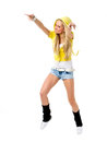 Hiphop dancer female in action Royalty Free Stock Photo