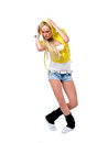 Hiphop dancer female in action Royalty Free Stock Photography