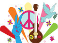 Hippie background Stock Photography