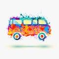 Hippie Camper bus.